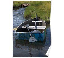 Floral Boat Poster