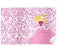 Aurora- Pink Dress Poster