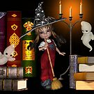 Housework .. a witch at work by LoneAngel