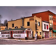 Red Rose Diner Photographic Print