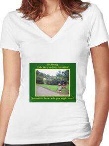 Roadside Assistance Women's Fitted V-Neck T-Shirt
