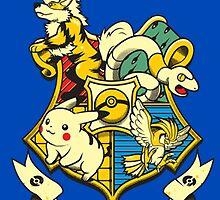Pokemon hogwarts logo by funnycase