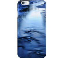 Icy winter blue river iPhone Case/Skin