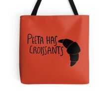 Peeta Has Croissants - Black Tote Bag