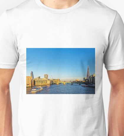Thames Riverscape, London England Unisex T-Shirt