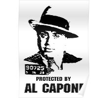 Protected By Al Capone Poster