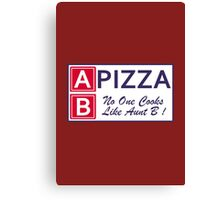 AB Pizza (Bad Blood) Canvas Print