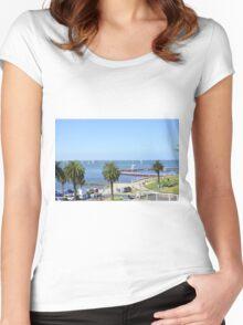 Eastern Beach Geelong Australia. Women's Fitted Scoop T-Shirt