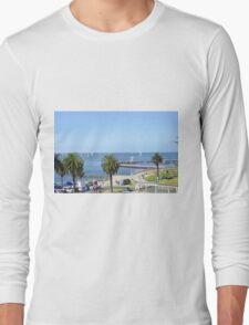 Eastern Beach Geelong Australia. Long Sleeve T-Shirt