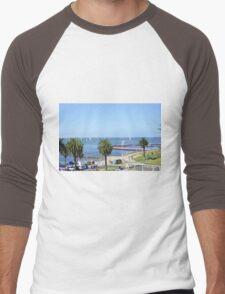 Eastern Beach Geelong Australia. Men's Baseball ¾ T-Shirt