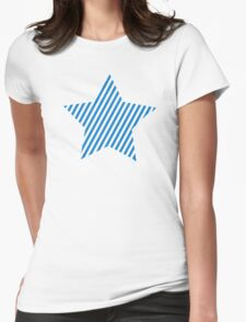 Blue star stripes Womens Fitted T-Shirt
