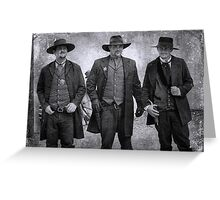 The Gunfight at the OK Corral in Tombstone Arizona Greeting Card