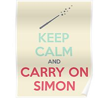 Keep Calm and Carry On Simon—Multi-Color Text Poster