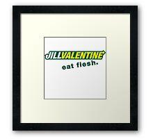 Jill Sandwich - Eat Flesh! Framed Print