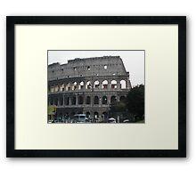 Italian streetscene, Colisseum, Rome Framed Print