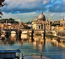 Vista of Rome from the River Tiber by BRENDA KEAN