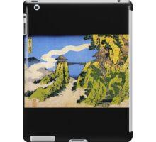 'Temple Bridge' by Katsushika Hokusai (Reproduction) iPad Case/Skin