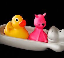 Rubber duck with friends by Paola Svensson