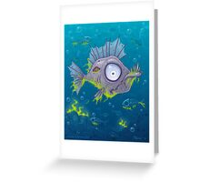 Zombie Fish Greeting Card