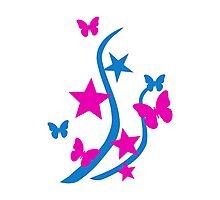 Butterflies stars Photographic Print
