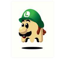 Ghost Luigi Art Print