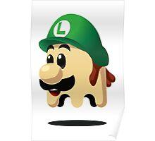 Ghost Luigi Poster