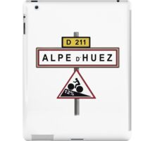 Alpe D'Huez Cycling Gradient Road Signs  iPad Case/Skin
