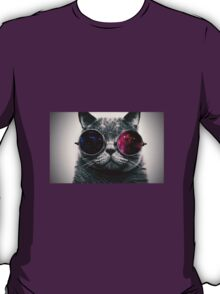 Space Cat With Glasses T-Shirt