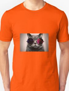 Space Cat With Glasses Unisex T-Shirt