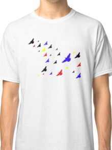 Colored Birds in the Clouds Classic T-Shirt