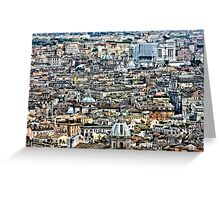 Rome Rooftops HDR Greeting Card