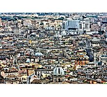 Rome Rooftops HDR Photographic Print
