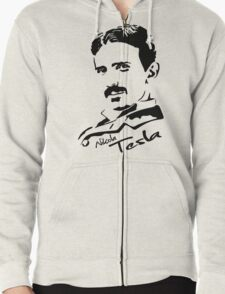 Nikola Tesla Zipped Hoodie