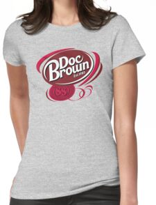 DOC BROWN COLA!! Womens Fitted T-Shirt