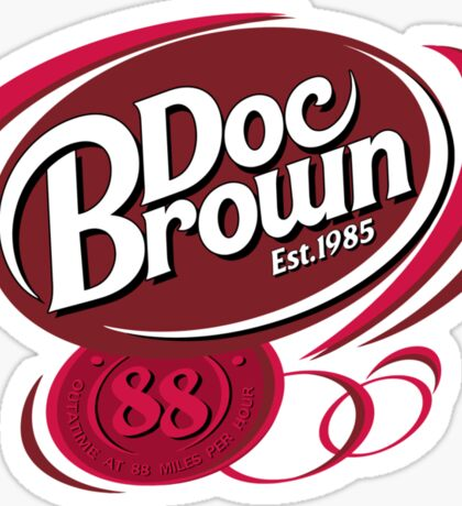 DOC BROWN COLA!! Sticker