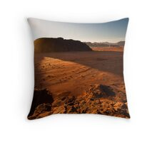 Sunset in Wadi Rum Throw Pillow