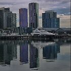 Reflecting at Docklands by Larry Lingard-Davis