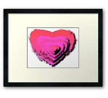 HEART LAYERS Framed Print