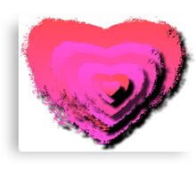 HEART LAYERS Canvas Print