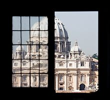 St. Peter's Basilica from Castel Sant'Angelo building architecture by Vit Kovalcik