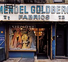 Mendel Goldberg Fabrics featured in our book STORE FRONT: The Disappearing Face of New York by James and Karla Murray