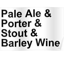 BEER -- Ales -- Pale Ale, Porter, Stout, Barley Wine Poster