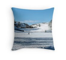 Between the dales Throw Pillow