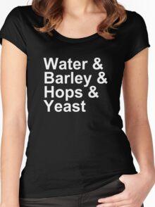 Beer - Ingredients - Water, Barley, Hops, Yeast Women's Fitted Scoop T-Shirt