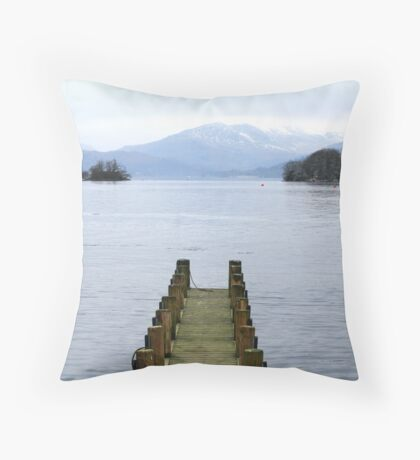 Lakeland path Throw Pillow