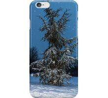 Fir Tree and snow iPhone Case/Skin