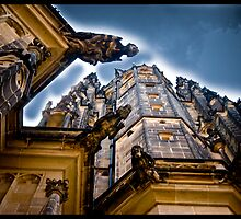 Gargoyles on St Vitellius Church, Prague by Cvail73