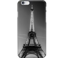 Eiffel Tower and sunset (Black and White) iPhone Case/Skin