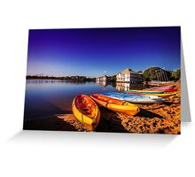 Kayaks at Dawn... Greeting Card