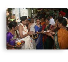 The Groom Welcome for Vivaah Canvas Print